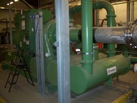 Compressor and piping installation by Specialty Welding, Inc.