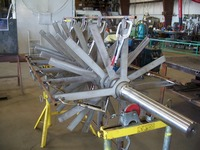 Stainless steel process agitator