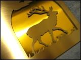 Brass elk emblem by Specialty Welding, Inc.