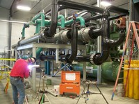 Cryogenic piping installation by Specialty Welding, Inc.